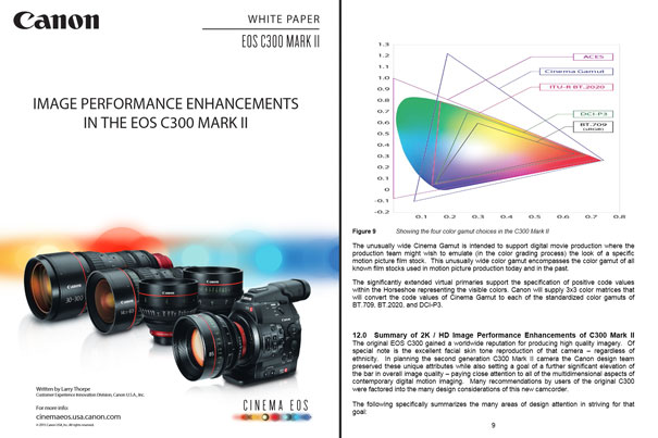 EOS C300 Mark II: Canon publishes 4 White Papers by Jose