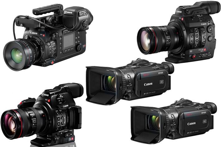 Canon upgrades six professional video cameras