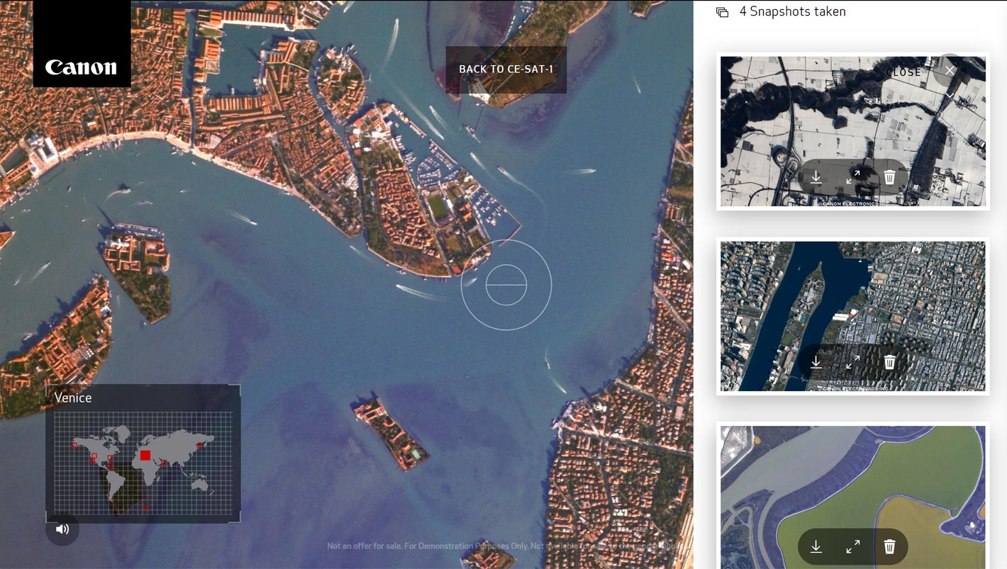 """Canon's invitation: use our satellite to """"shoot"""" your own photos of Earth"""