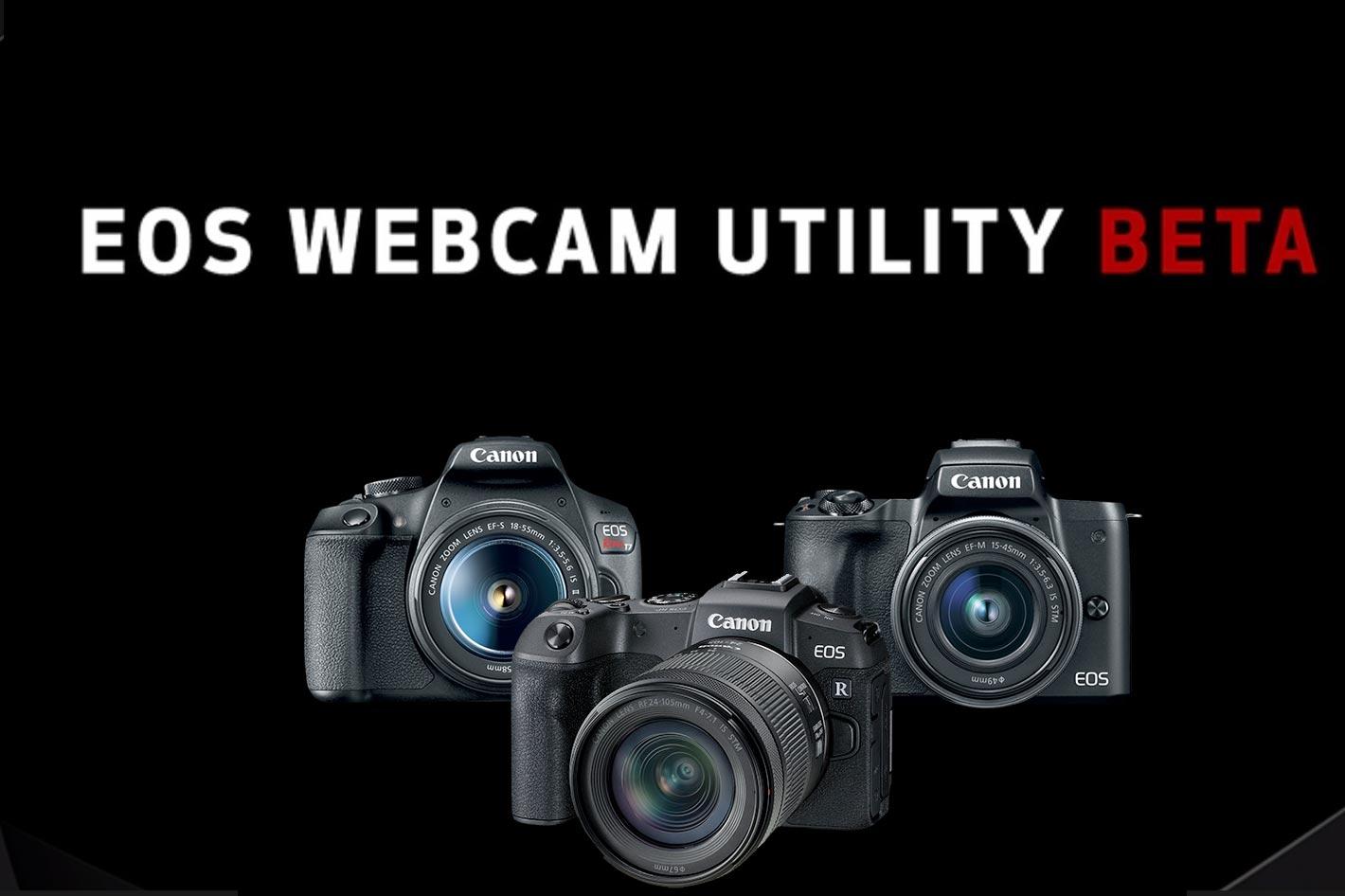 The EOS Webcam Utility Beta software for Mac has arrived!