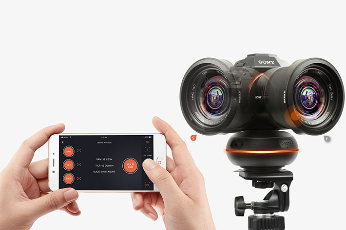 Capsule360: a 3-axis motion control box for photography and video