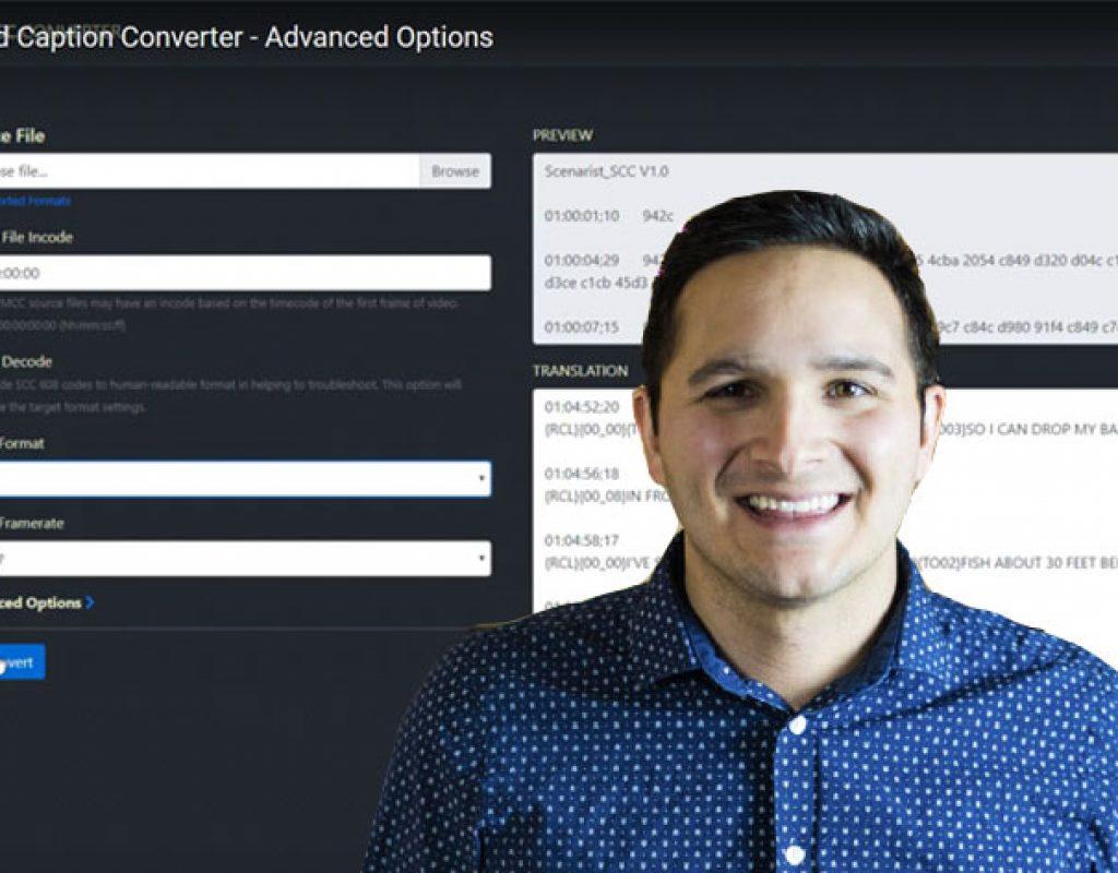 Closed Caption Converter, a free web-based caption converter tool