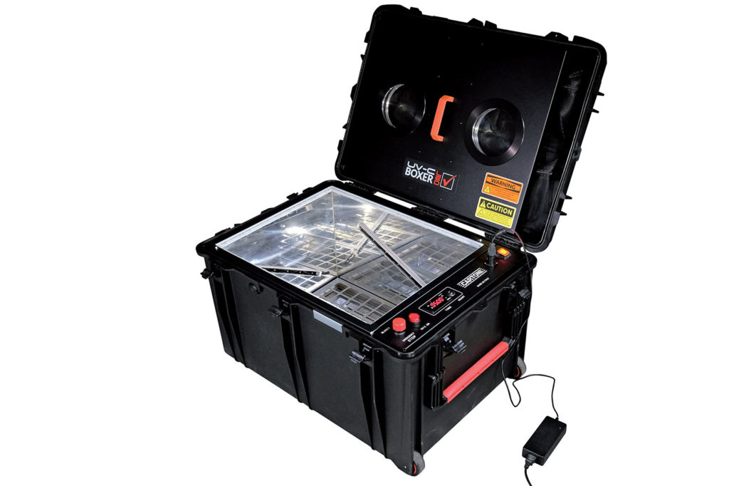 New portable Cartoni UV-C LED Boxer destroys COVID-19 in 5 minutes