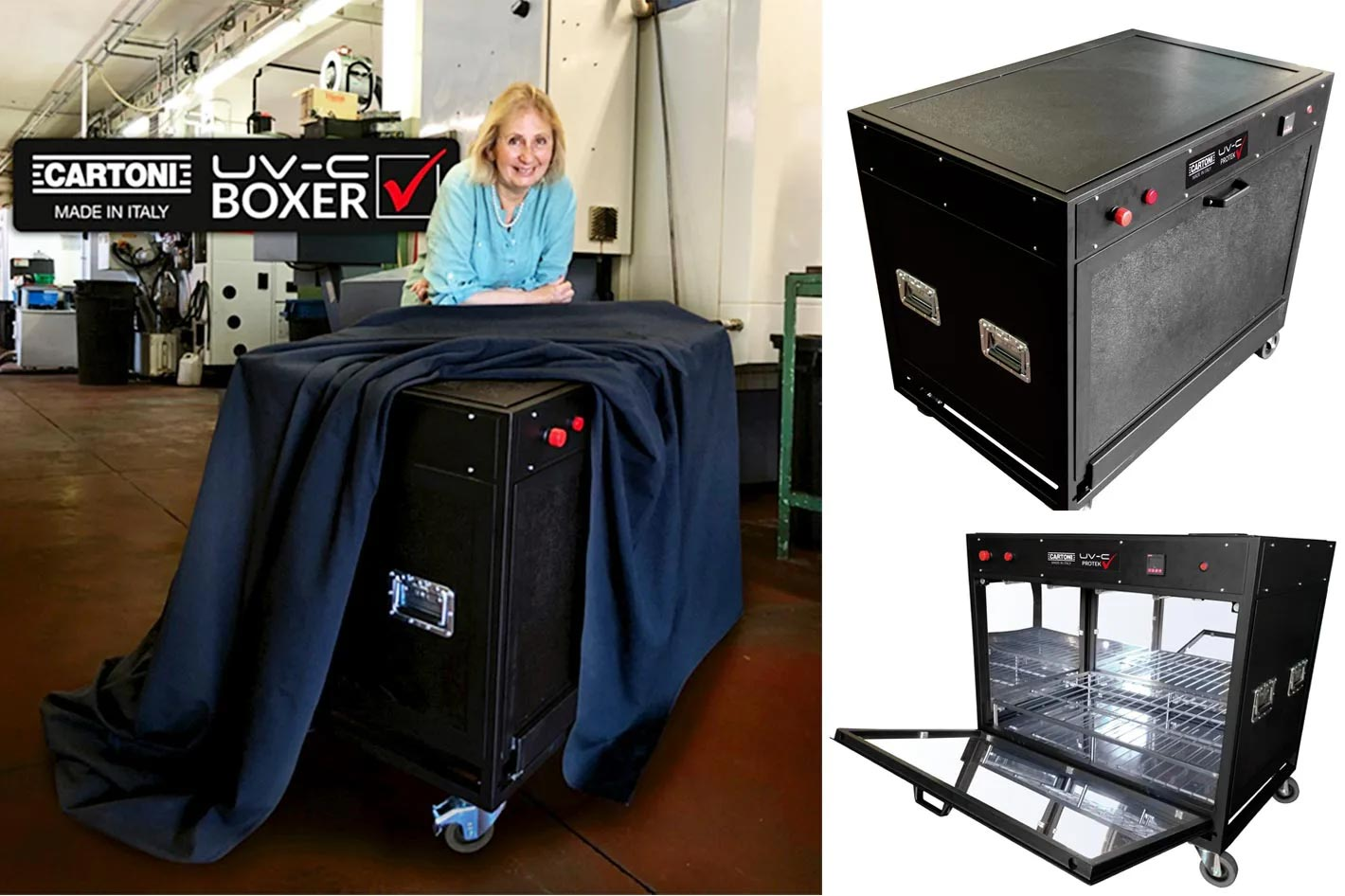 Cartoni UV-C Boxer neutralizes Covid-19 in 3 minutes
