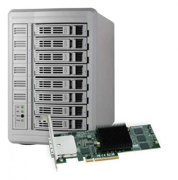 Sonnet Fusion™ DX800RAID Includes SAS Expander; Supports RAID 5 and RAID 6 1