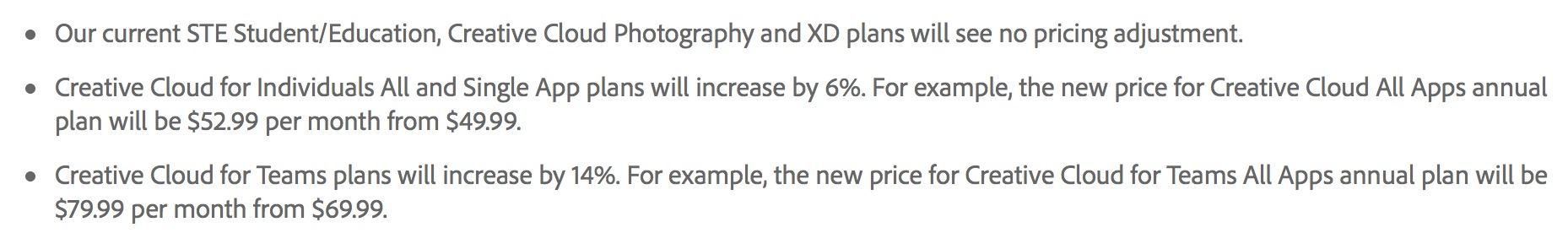 Adobe updates everything at MAX ... including the price for some of us 6