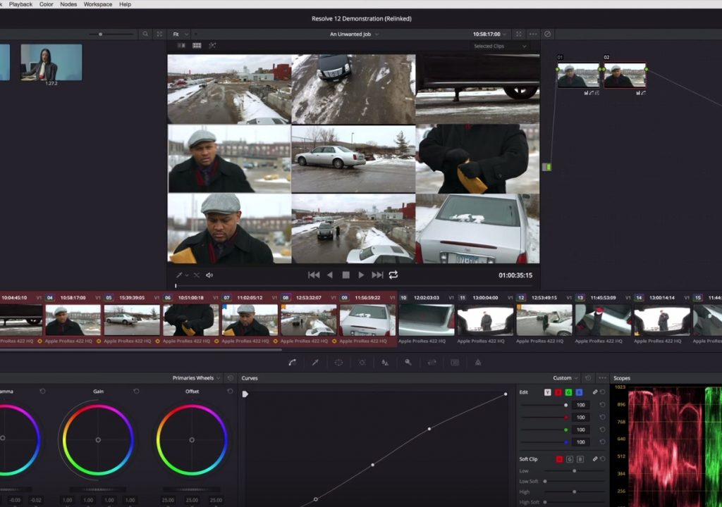 Appending a node to multiple clips in Resolve 12 1