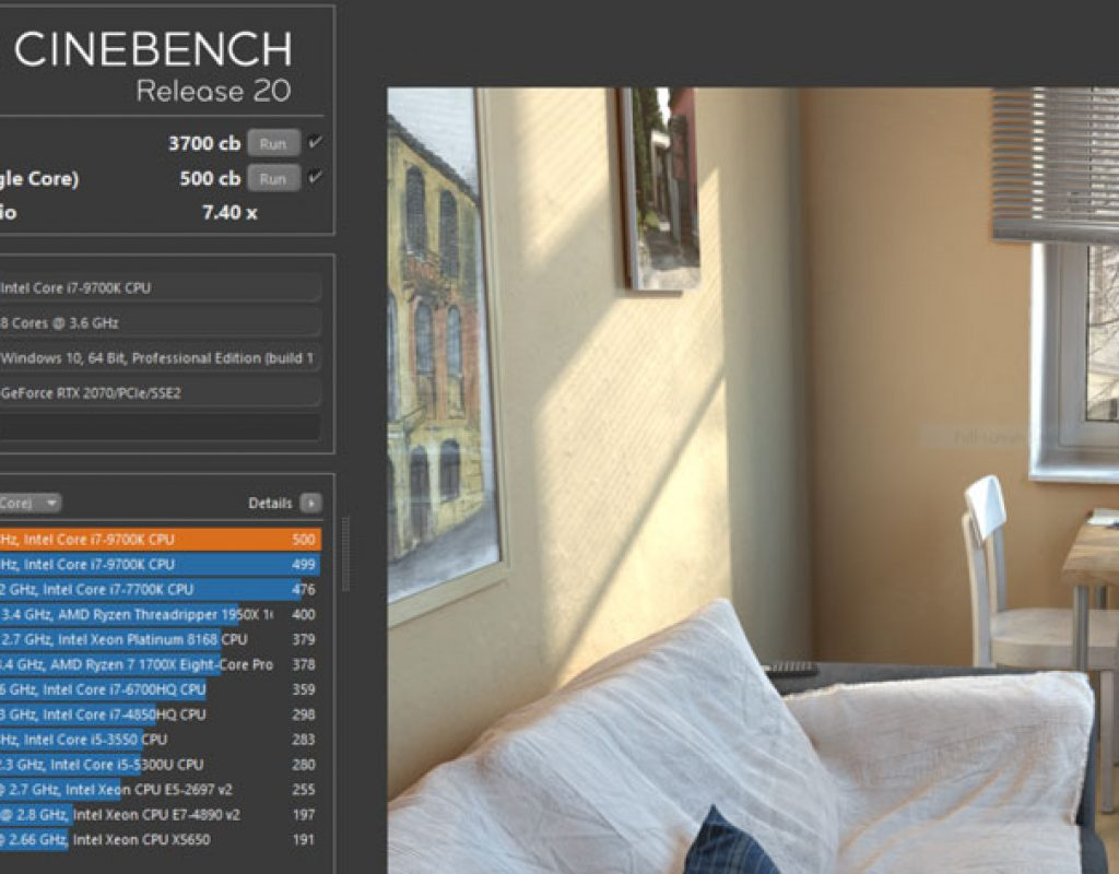 Test your new computer with the new Cinebench Release 20 from Maxon 1