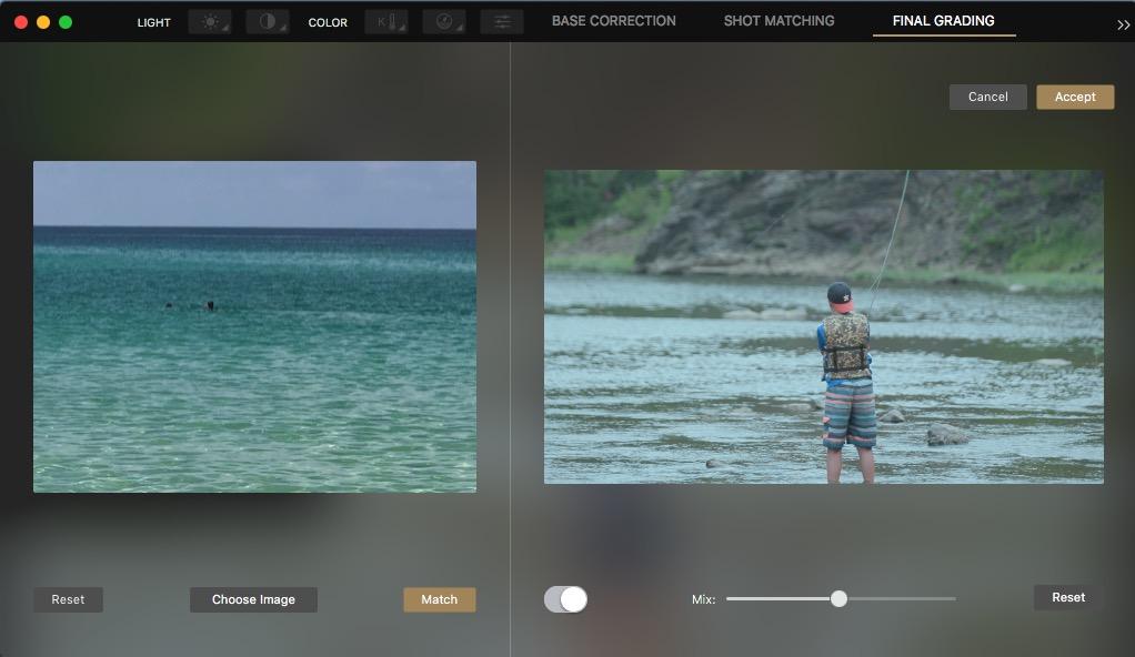 Cinema Grade - a new way to color grade footage inside of