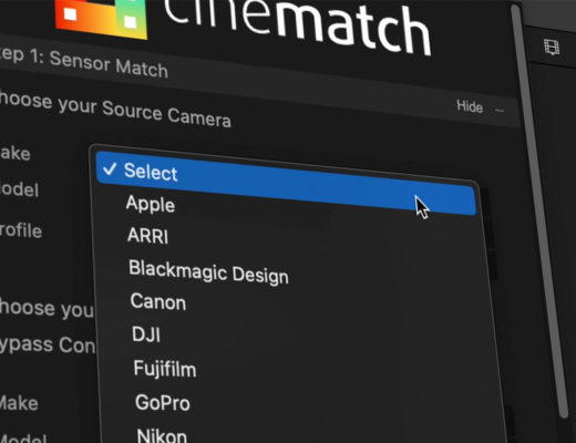 FilmConvert's CineMatch now available for Final Cut Pro
