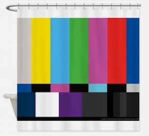 color bars shower curtain
