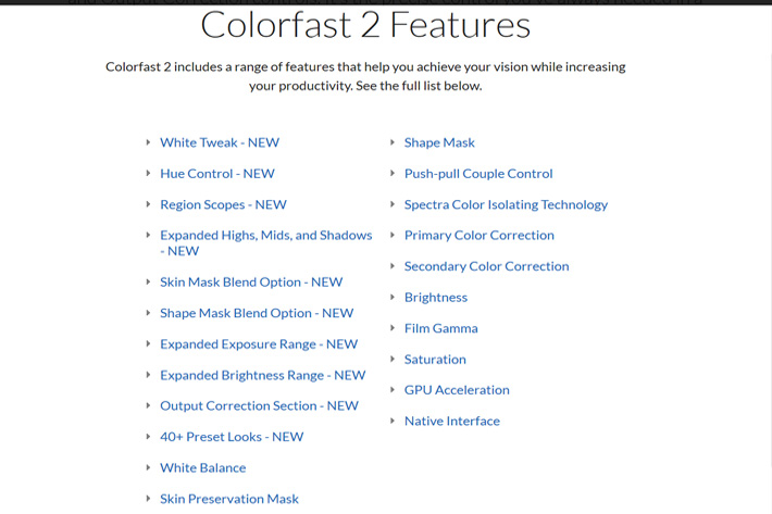ColorFast 2 : color grading made simple