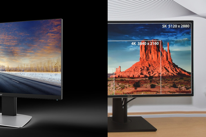 Acer and Asus show new monitors