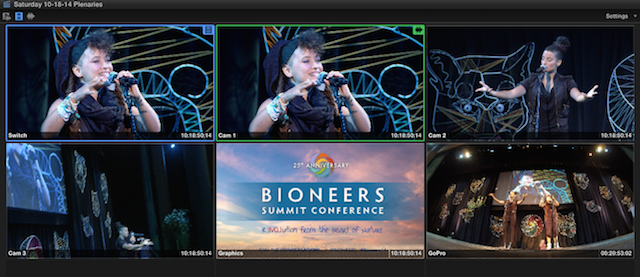 Editing the Bioneers 25th Anniversary Conference 45
