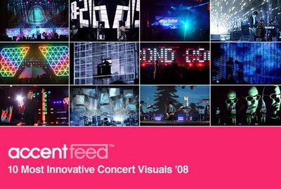 10 Most Innovative Concert Visuals '08 6