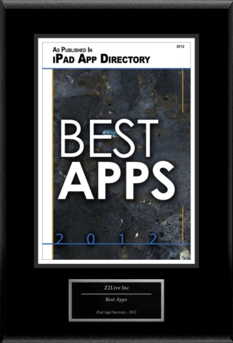 """Z2Live Inc Selected For """"Best Apps"""" 3"""