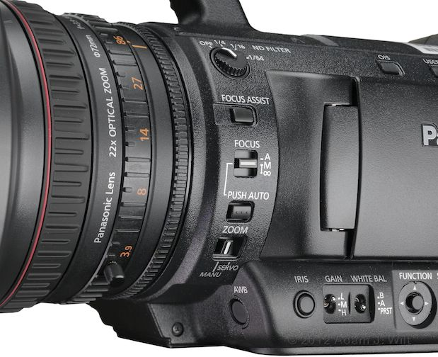 "Review: Panasonic AG-AC160 and AG-HPX250 1/3"" 3-MOS camcorders 110"