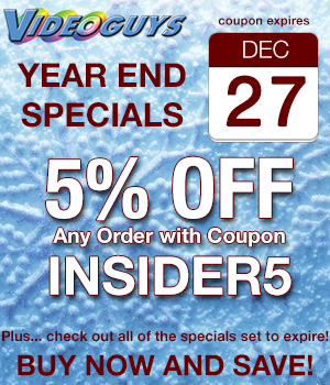 Videoguys 5% Off Sale and Specials Expiring at the End of the Year 4