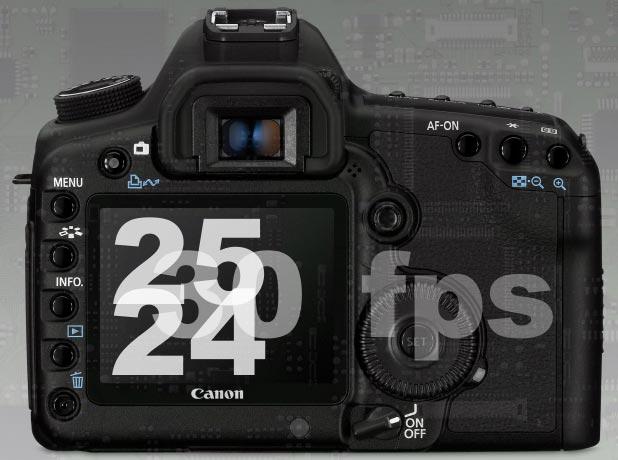 Canon 5D Mark II + 2010 = 24, 25 fps 4