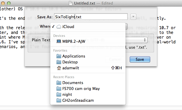 An[other] OS X 10.6 to 10.8 Survival Guide for Editors 64