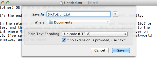 An[other] OS X 10.6 to 10.8 Survival Guide for Editors 65