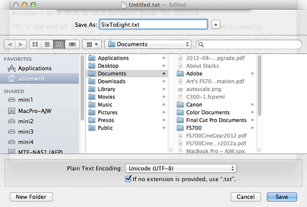 An[other] OS X 10.6 to 10.8 Survival Guide for Editors 66