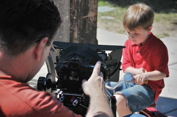 Art shoots a spot on the Canon 5D MkII 7