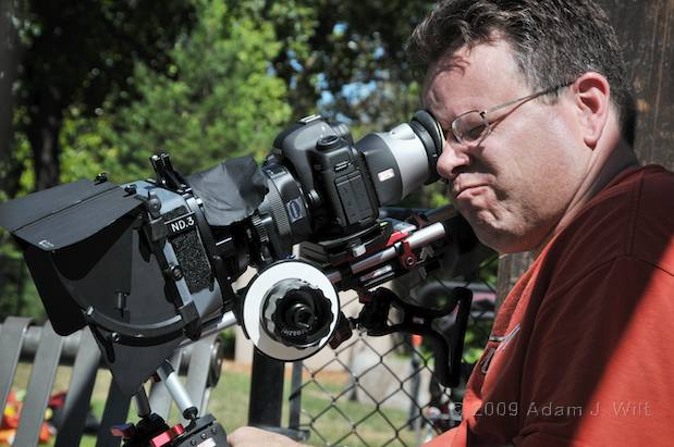 Art shoots a spot on the Canon 5D MkII 2
