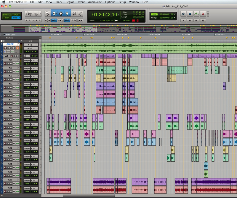 AAF imported into Pro Tools