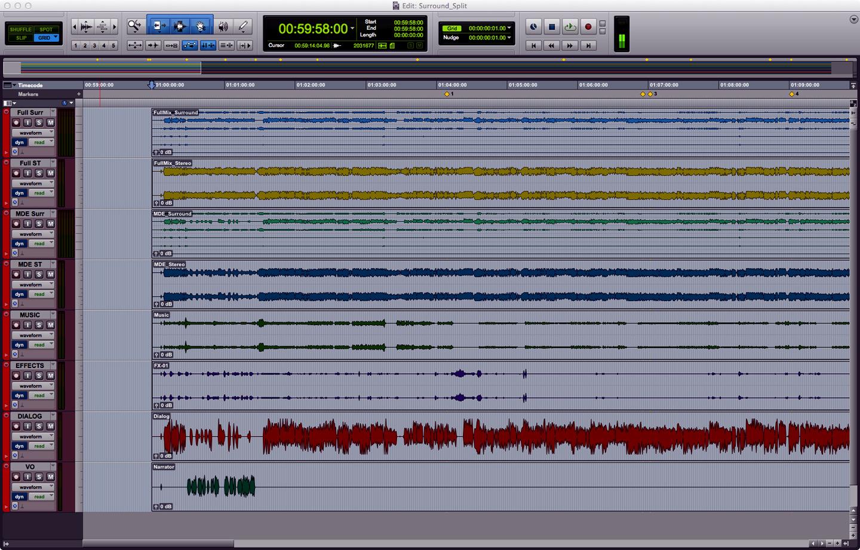 Audio Splits, Stems & Elemental Tracks 3