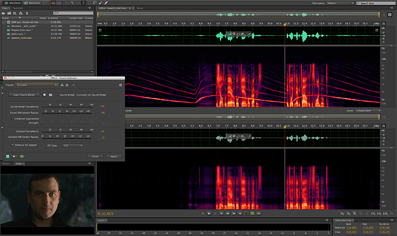 Audio work for Wayland's Song was completed in Adobe Audition