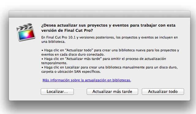 """Final Cut Pro X 10.1 now speaks Castilian (aka """"Spanish"""") 26"""