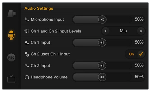 How to adjust audio levels with Blackmagic cameras 13