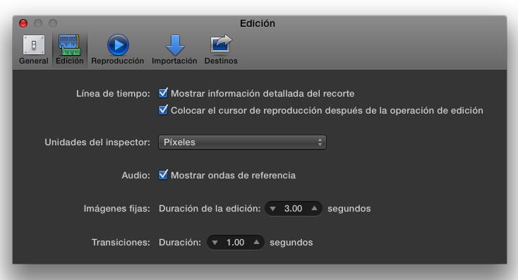 """Final Cut Pro X 10.1 now speaks Castilian (aka """"Spanish"""") 28"""