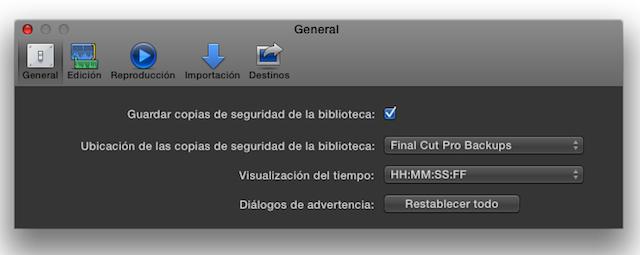 """Final Cut Pro X 10.1 now speaks Castilian (aka """"Spanish"""") 27"""