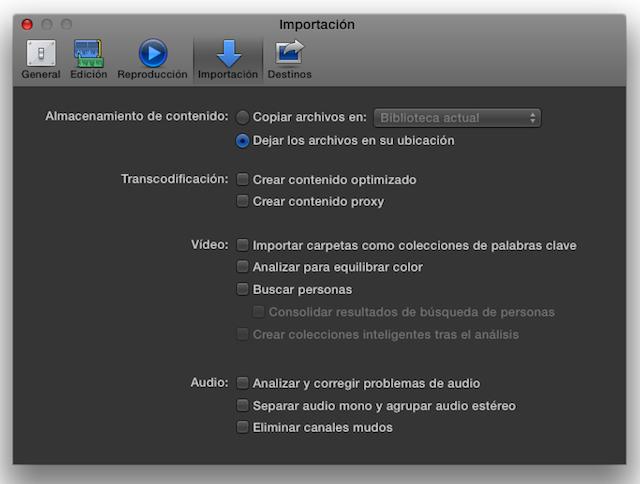 """Final Cut Pro X 10.1 now speaks Castilian (aka """"Spanish"""") 30"""