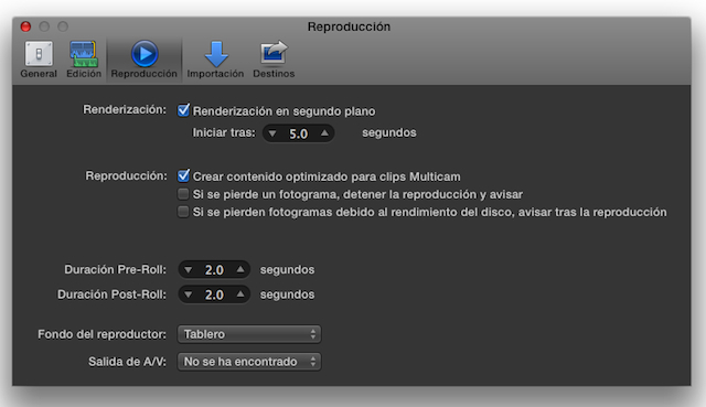 """Final Cut Pro X 10.1 now speaks Castilian (aka """"Spanish"""") 29"""