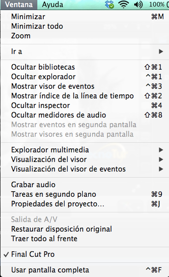 """Final Cut Pro X 10.1 now speaks Castilian (aka """"Spanish"""") 32"""