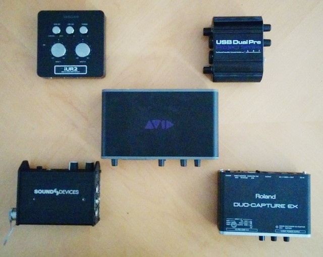Five iOS-capable, dual-input balanced>USB audio interfaces compared