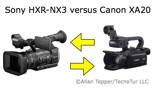 Sony new NX3 camcorder compared with the Canon XA20 10