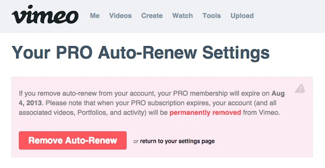 Why I (sadly and reluctantly) opted-out of my Vimeo Pro renewal 4