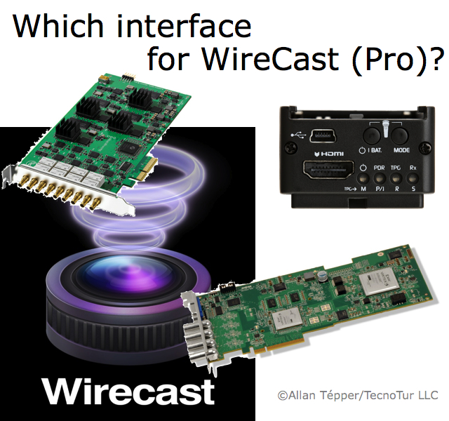 How to pick your ideal HDMI or HD-SDI interface for WireCast (Pro