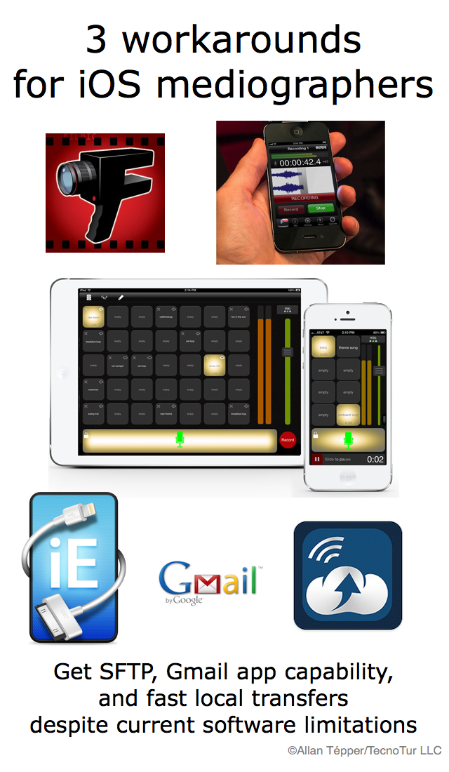 3 workarounds for iOS mediographers (iPad/iPhone/iPod Touch) 16