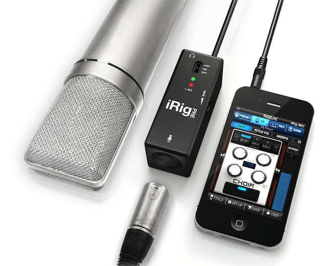 Review: iRig Pre XLR mic preamp for iPad/iPhone/iPod Touch 4