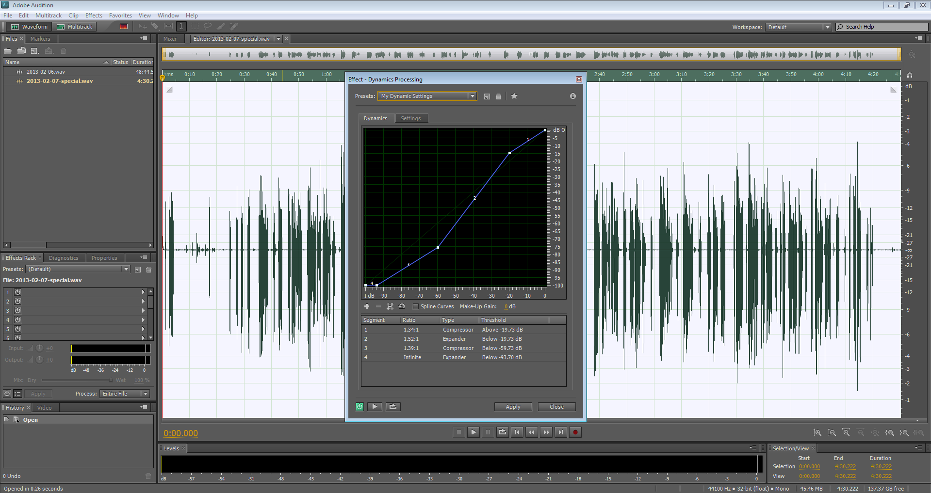 Podcasting with Adobe Audition 4