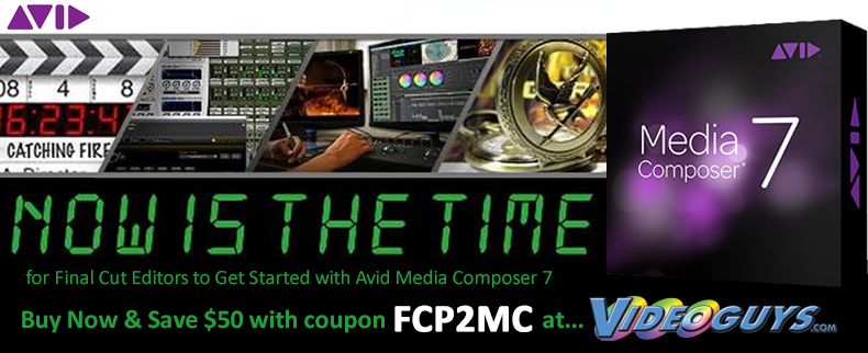 Videoguys' Recommends that Now is the time for Final Cut Editors to Get Started with Avid Media Comp 4