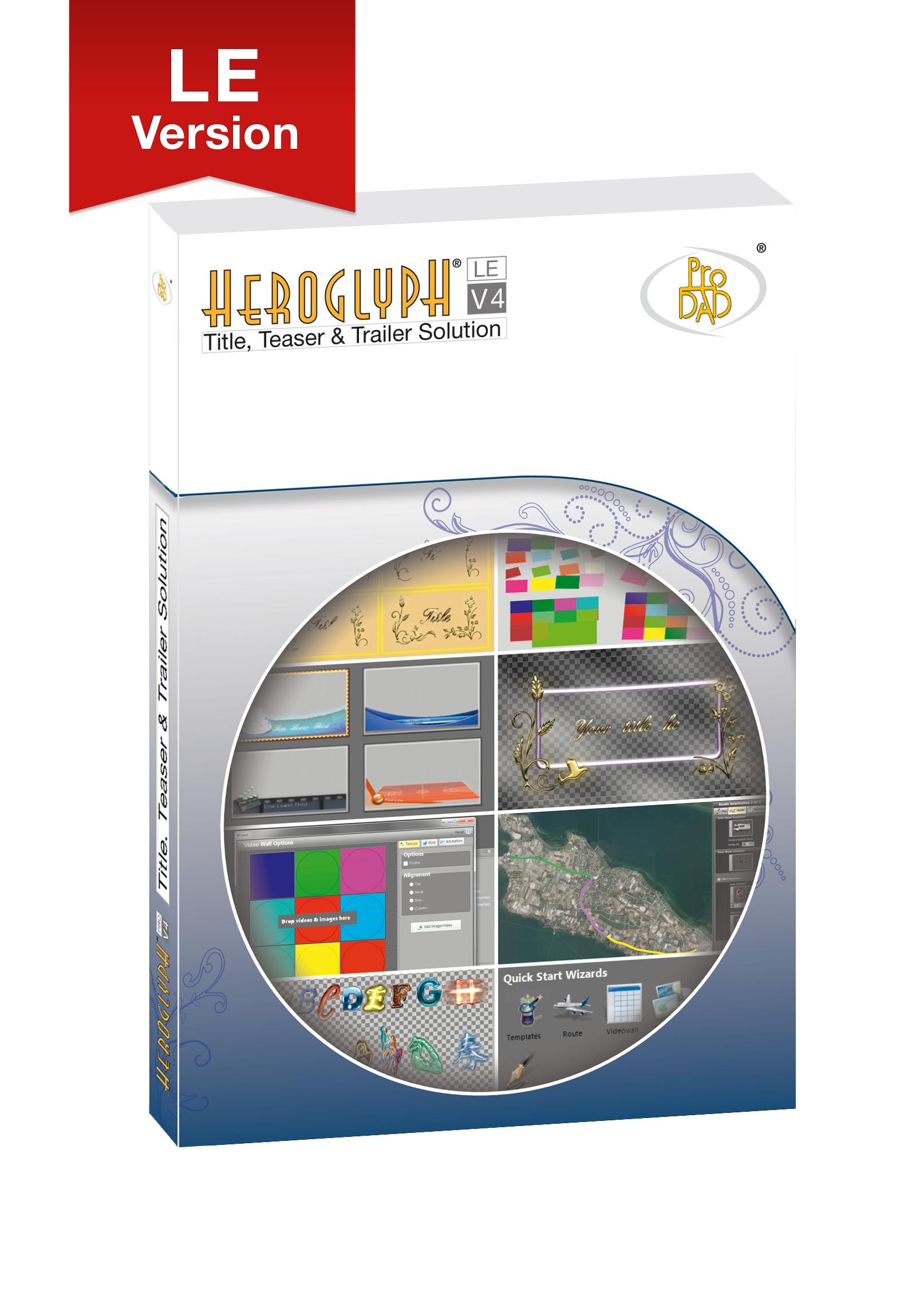 proDAD® Unveils Heroglyph V4 LE – Budget-Friendly Video Titler/Trailer Animation Plug-in Solution 4
