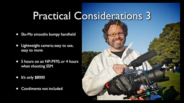 High Speed and Low Light with the NEX-FS700 78