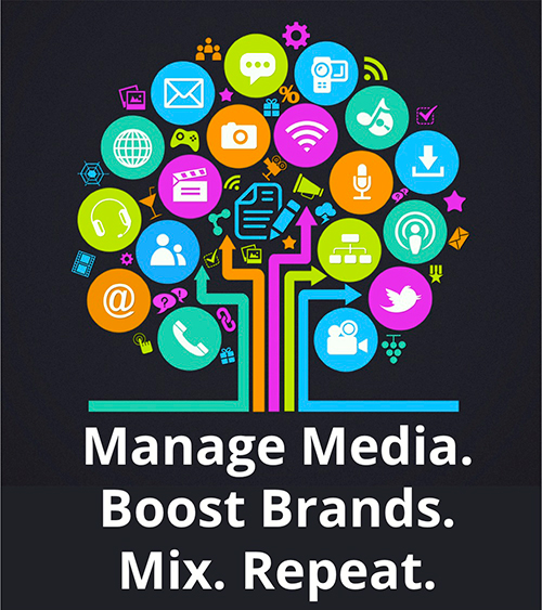 Manage Media. Boost Brands. Mix. Repeat. 3