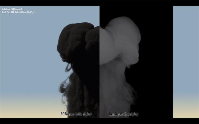 TurbulenceFD Depth Pass Using Cinema 4D 7